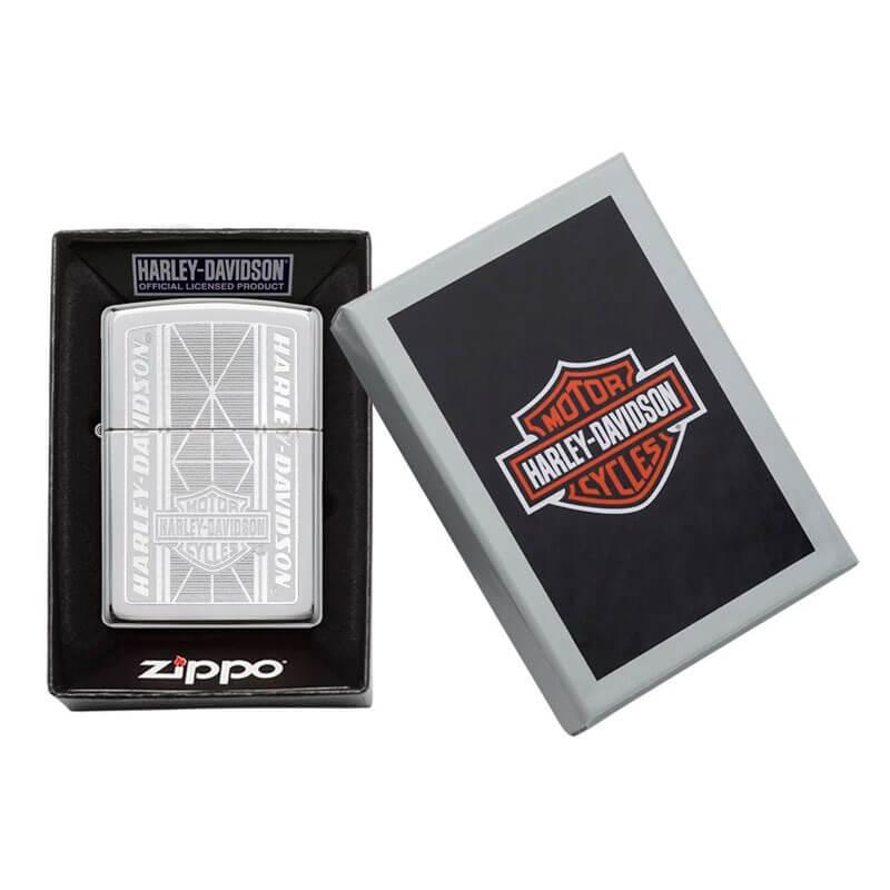 Isqueiro Zippo 29655 Classic Cromado Harley-Davidson® Geometric Polido