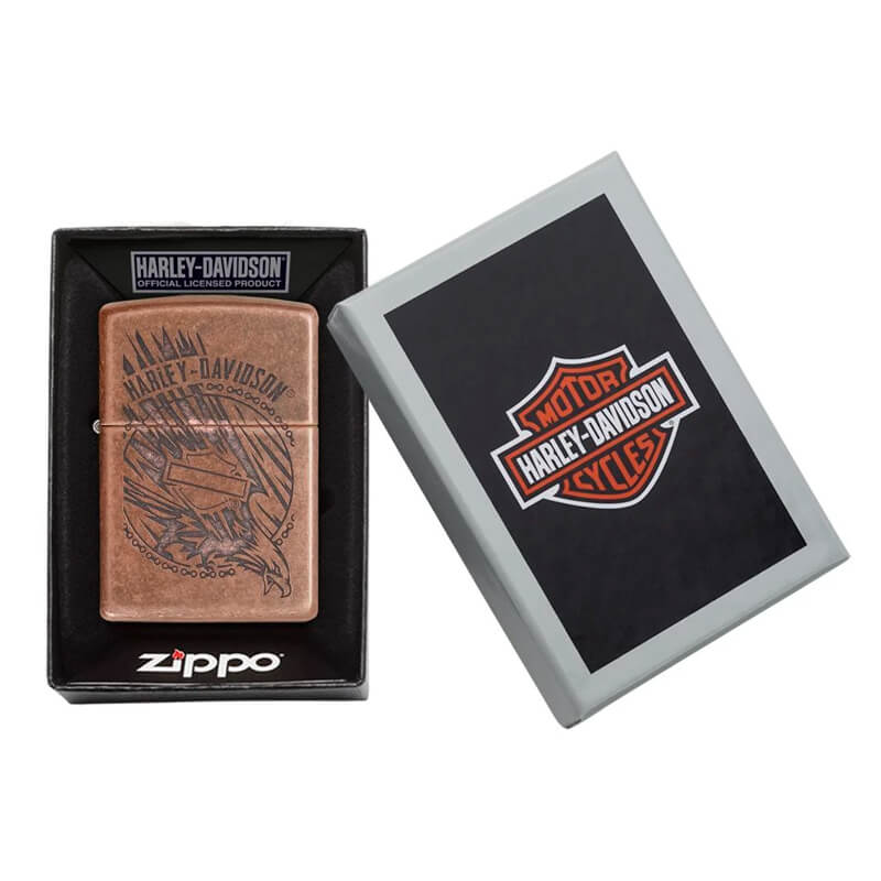 Isqueiro Zippo 29664 Classic Harley-Davidson® Cobre Antigo