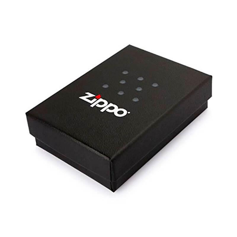 Isqueiro Zippo 29701 Classic Cromado Striped Zippo Logo Satin