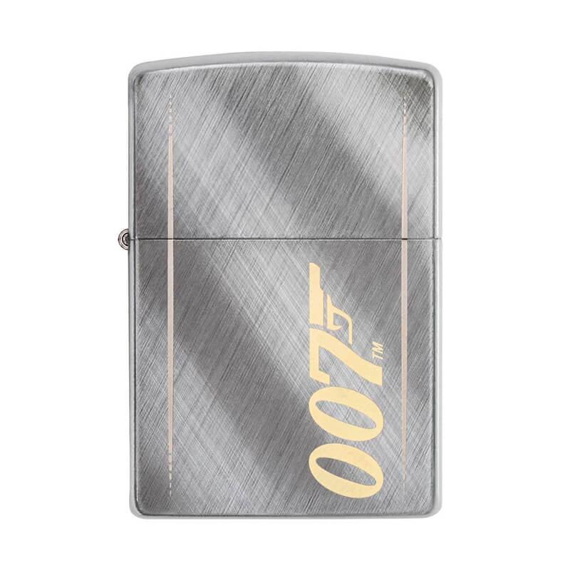 Isqueiro Zippo 29775 Classic Cromado James Bond 007™ Diagonal Weave Escovado