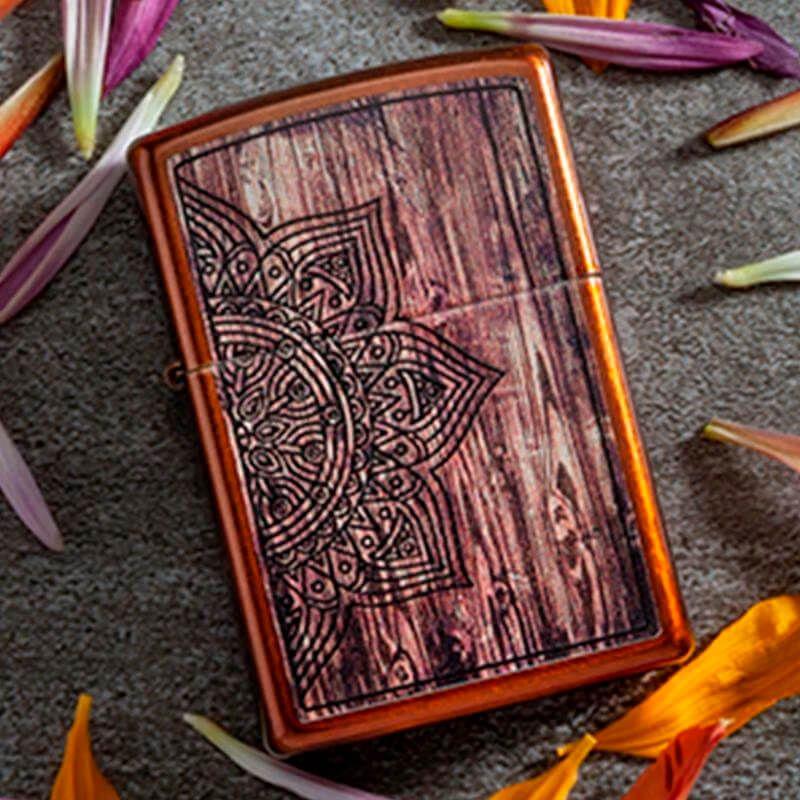 Isqueiro Zippo 29828 Classic Wood Mandala Toffee™