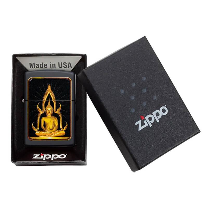 Isqueiro Zippo 29836 Classic Buda Preto Fosco