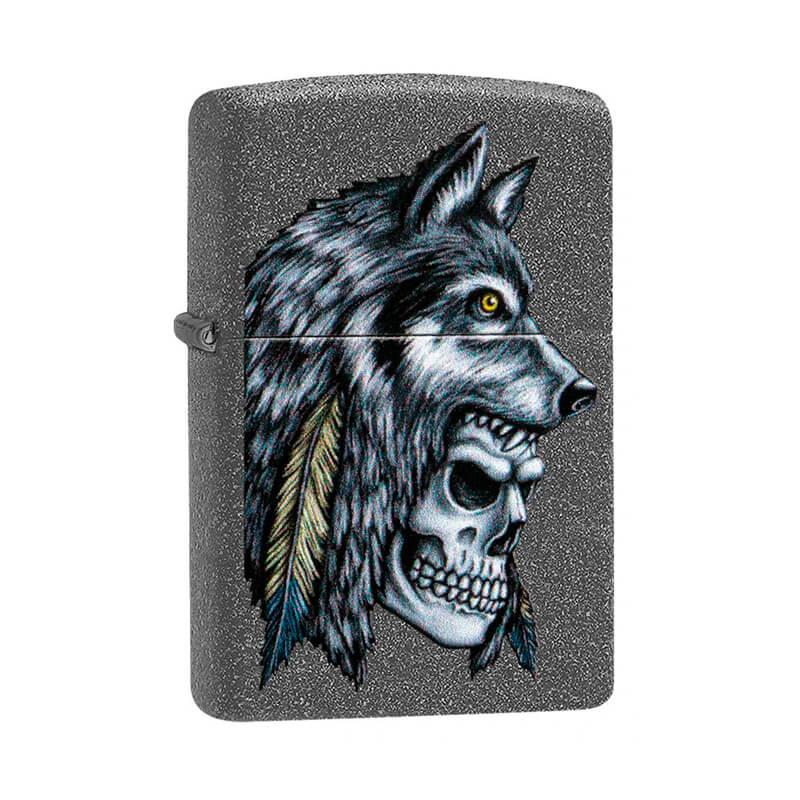 Isqueiro Zippo 29863 Classic Wolf Skull Iron Stone™