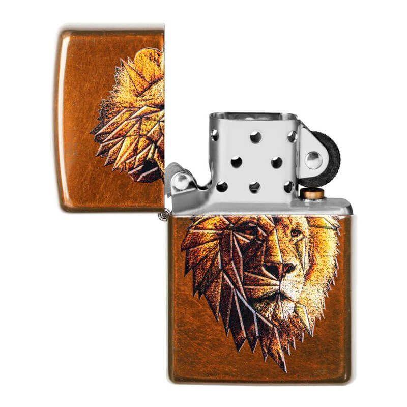 Isqueiro Zippo 29865 Classic Polygonal Lion Toffee™