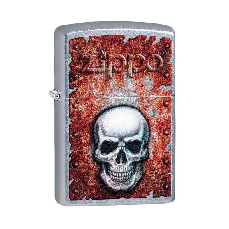 Isqueiro Zippo 29870 Classic Rusted Skull Street