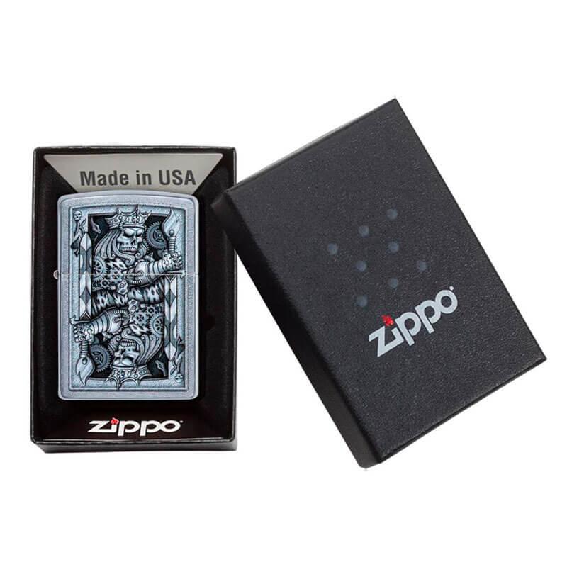 Isqueiro Zippo 29877 Classic Steampunk King of Spades Street