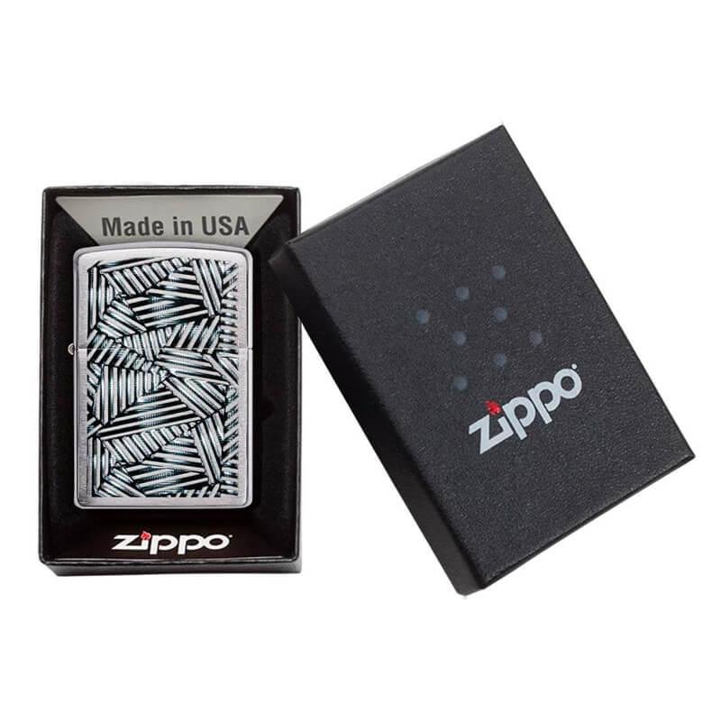 Isqueiro Zippo 29885 Classic Cromado Line Grid Escovado