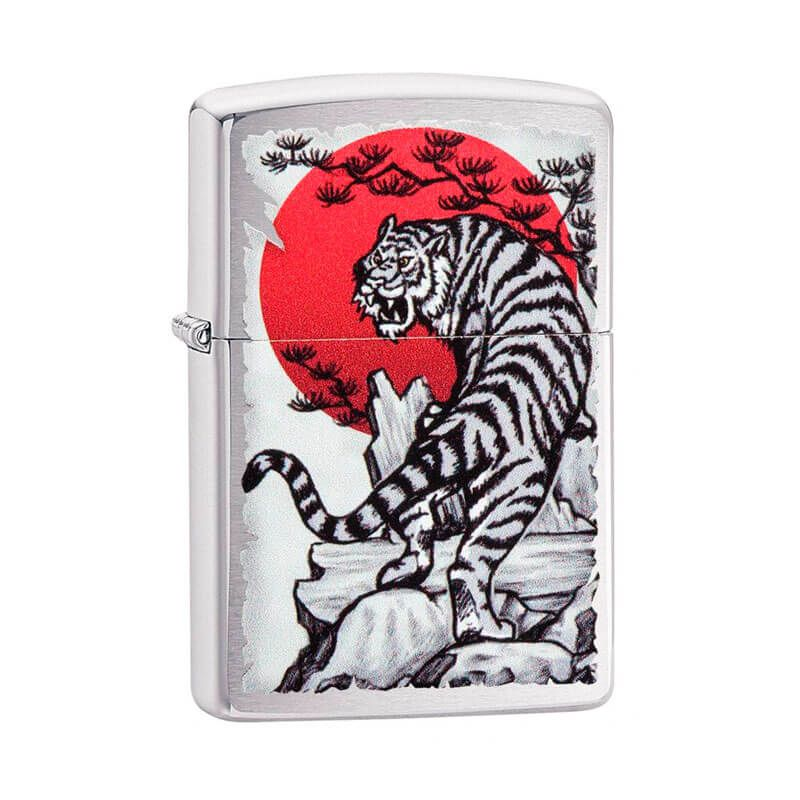 Isqueiro Zippo 29889 Classic Cromado Asian Tiger Escovado