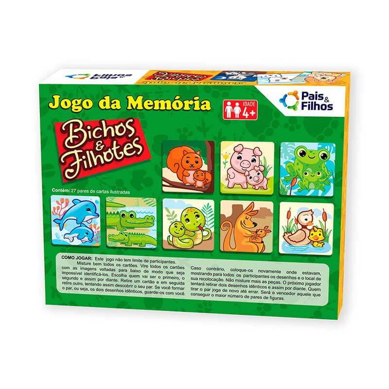 Jogo da Memória - Bichos e Filhotes   Pais & Filhos