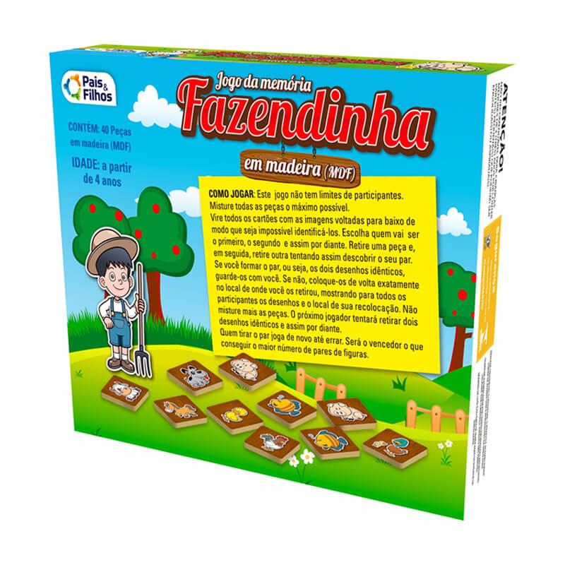 Jogo da Memória em Madeira - Fazendinha | Pais & Filhos