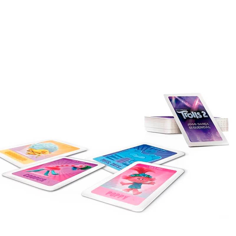 Jogo de Cartas Dança Sequencial - Trolls 2   COPAG
