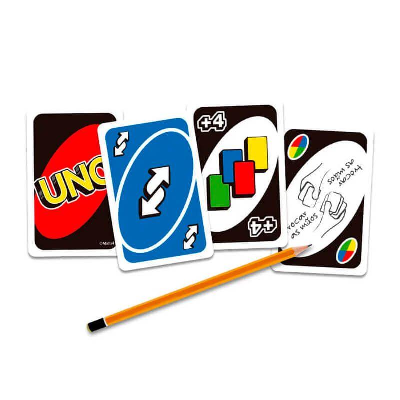 Jogo de Cartas UNO + Jogo Caiu Perdeu