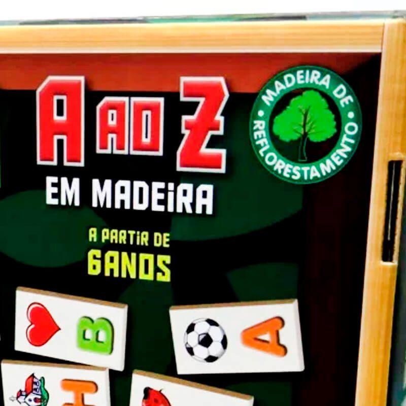 Jogo Dominó A ao Z em Madeira | Pais & Filhos