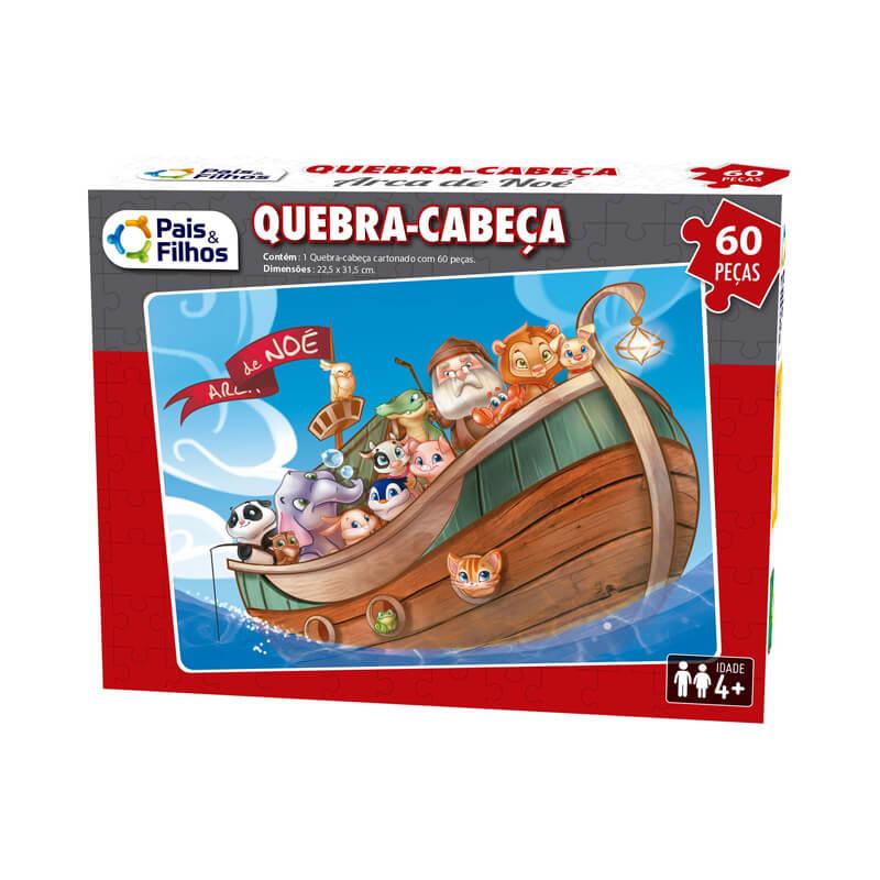 Jogo Quebra-Cabeça: Arca de Noé - 60 Peças | Pais & Filhos