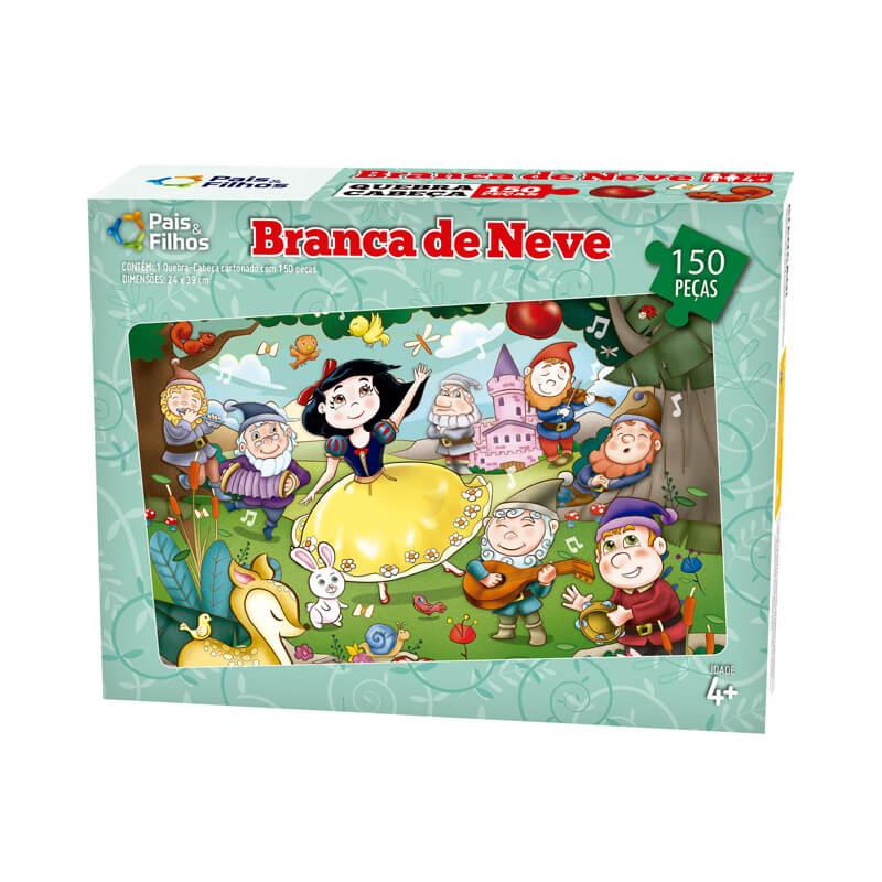Jogo Quebra-Cabeça: Branca de Neve - 150 Peças   Pais & Filhos