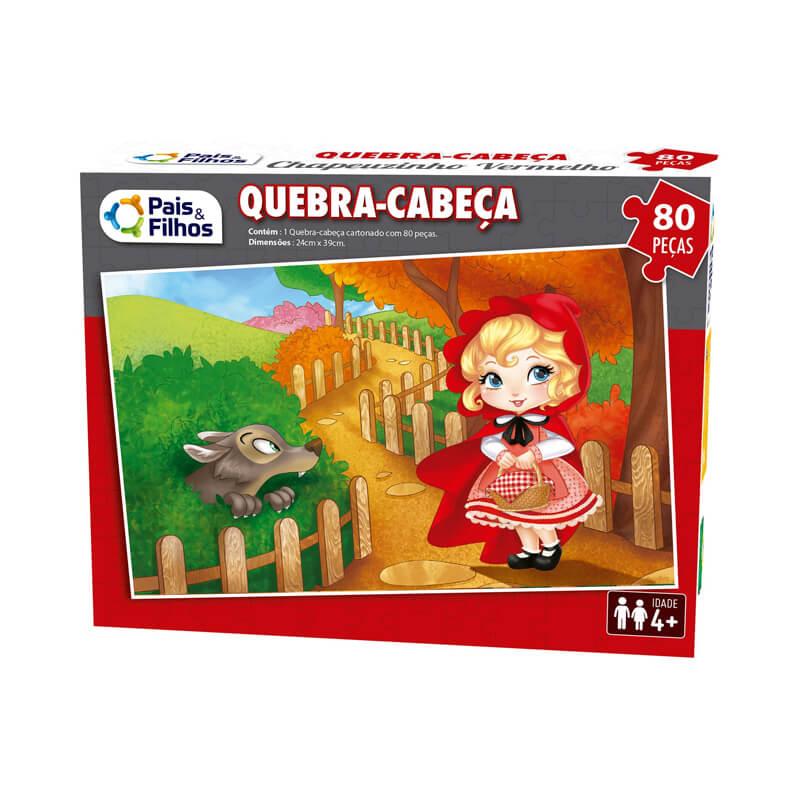 Jogo Quebra-Cabeça: Chapeuzinho Vermelho - 80 Peças   Pais & Filhos
