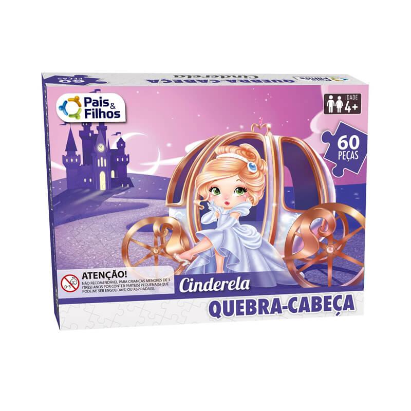 Jogo Quebra-Cabeça: Cinderela - 60 Peças | Pais & Filhos