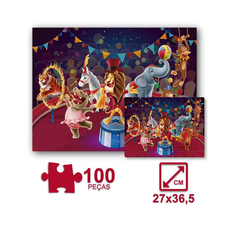 Jogo Quebra-Cabeça: Circo - 100 Peças | Pais & Filhos