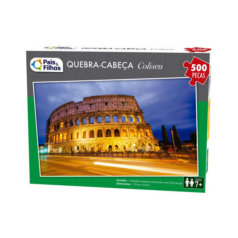 Jogo Quebra-Cabeça: Coliseu - 500 Peças   Pais & Filhos