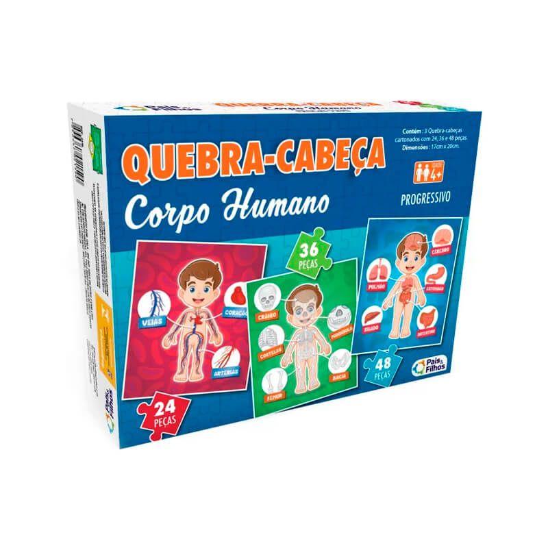 Jogo Quebra-Cabeça: Corpo Humano - Progressivo | Pais & Filhos