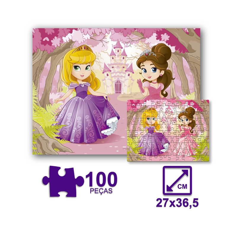 Jogo Quebra-Cabeça: Princesas - 100 Peças | Pais & Filhos