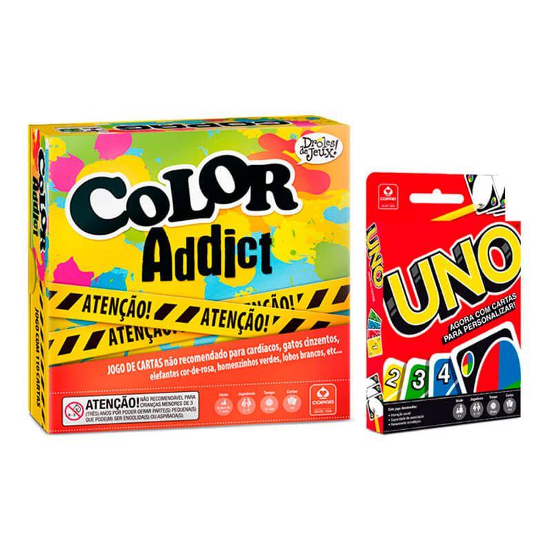 Jogos de Cartas UNO + Color Addict | COPAG