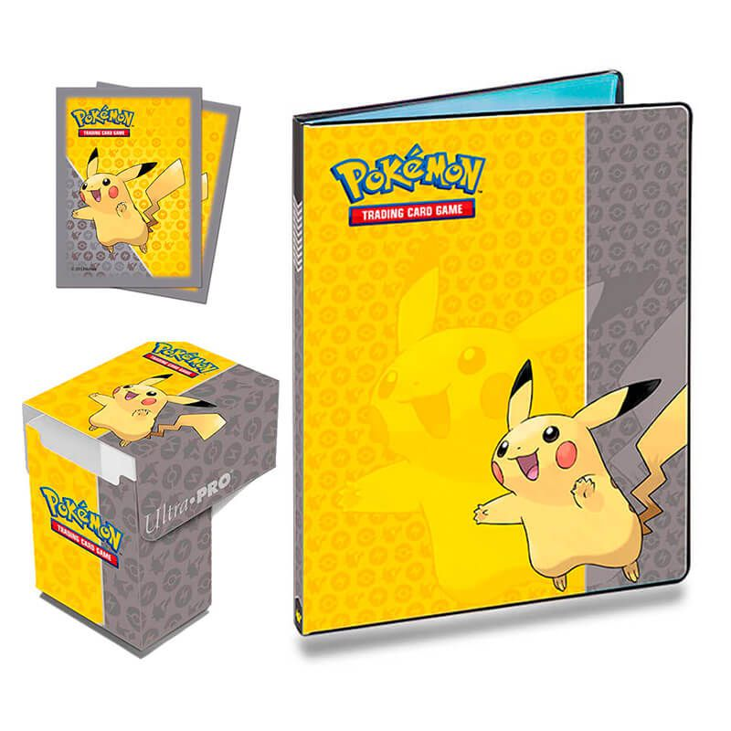 Kit Pasta + Sleeve + Deck Box Oficial Ultra Pro - Pokémon TCG: Pikachu