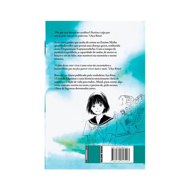 Livro 1 Litro de Lágrimas - Diário da Aya + Mangá 1 Litro de Lágrimas