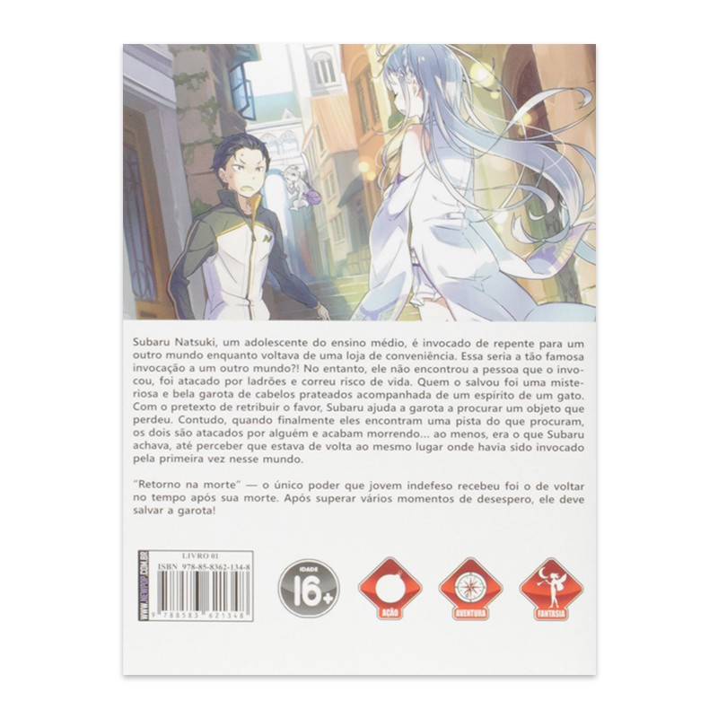 Livro Re:Zero: Começando uma Vida em Outro Mundo - Livro 01