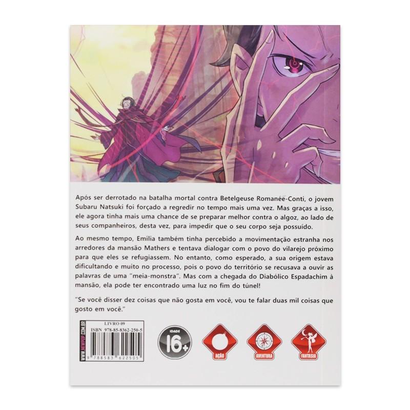 Livro Re:Zero: Começando uma Vida em Outro Mundo - Livro 09