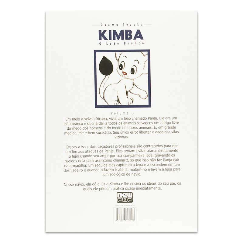 Mangá Kimba: O Leão Branco - Volume 03