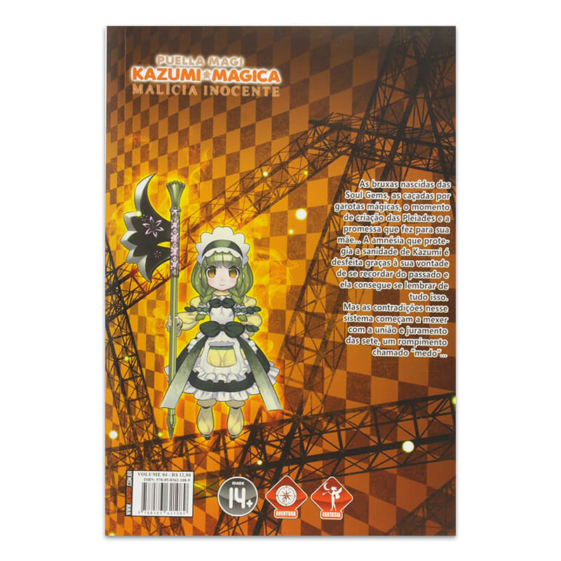 Mangá Puella Magi Kazumi Magica: Malícia Inocente - Volume 04