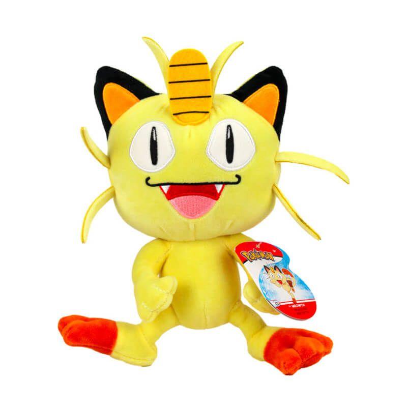 """Pelúcia Pokémon 8"""" - Meowth   WCT/DTC"""