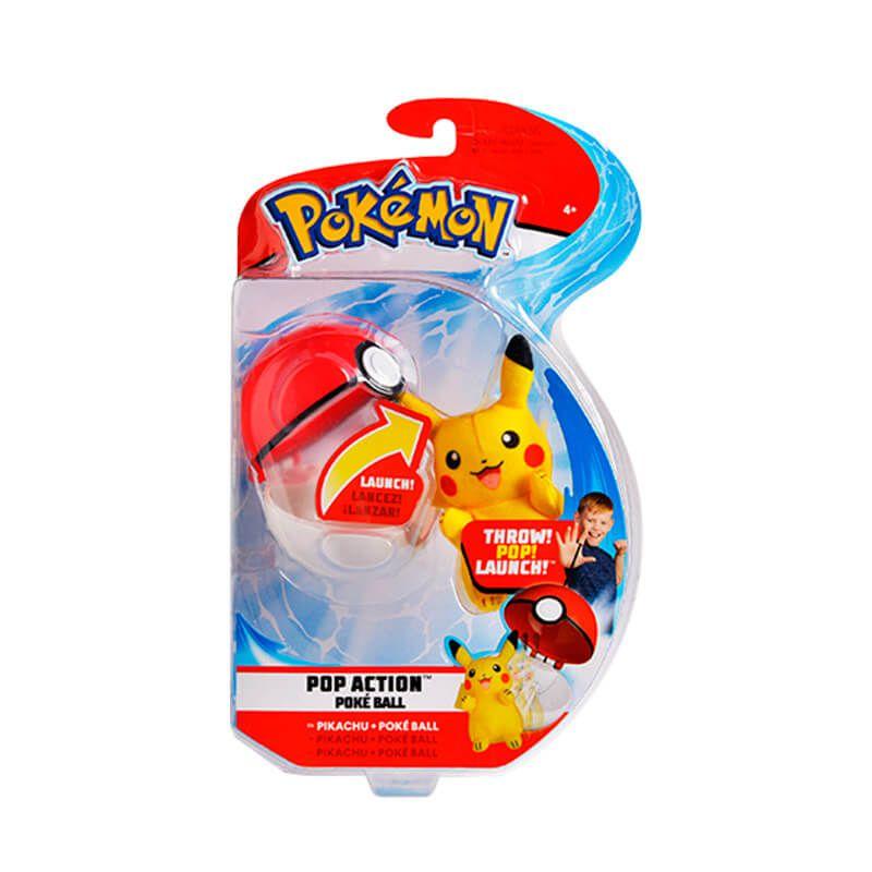 Pelúcia Pokémon POP Action Pokébola - Pikachu | WCT/DTC