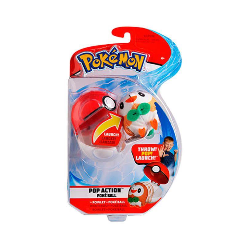 Pelúcias Pokémon POP Action Pokébola - Pikachu + Rowlet + Litten + Popplio WCT/DTC