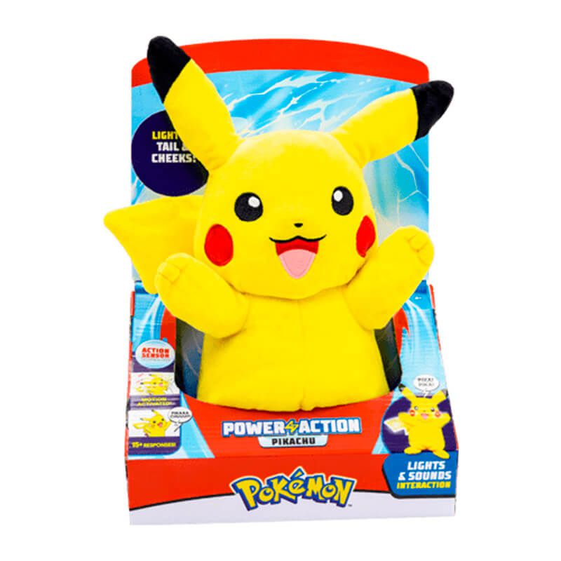 Pelúcia Pokémon Power Action - Pikachu | WCT/DTC
