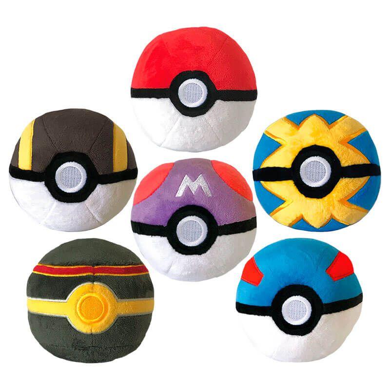 "Pelúcias Pokémon 4"" - Kit 6 Poké Bolas | WCT/DTC"
