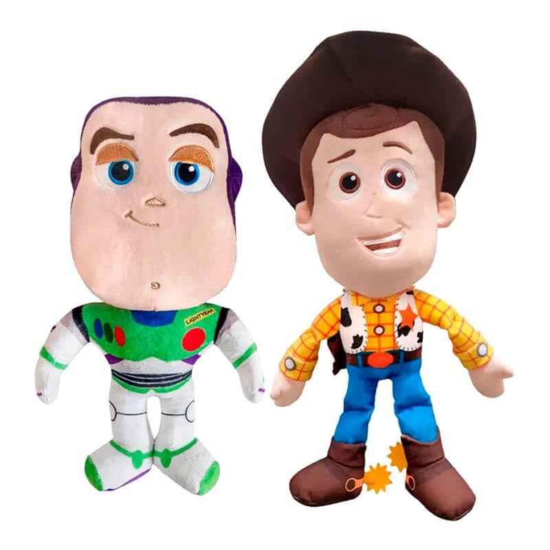 Pelúcias Toy Story 4 - Buzz e Woody | Mundo Plush DTC