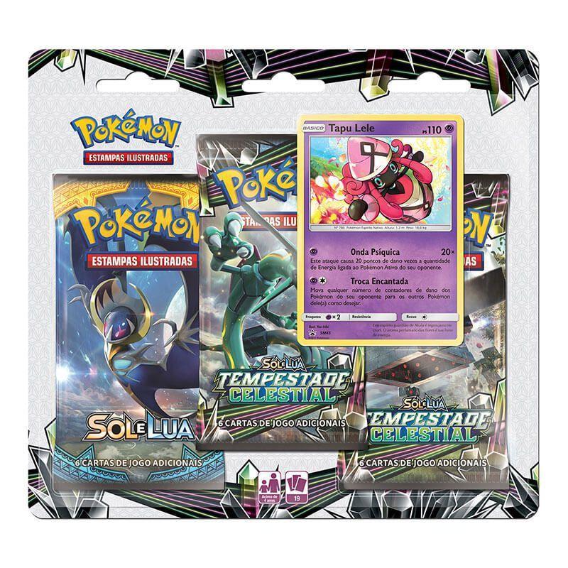 Pokémon TCG: 2 Triple Pack SM7 Tempestade Celestial - Tapu Koko e Tapu Lele
