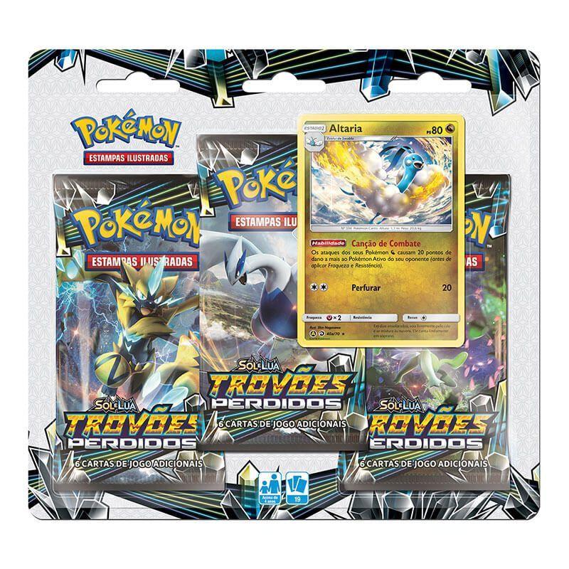 Pokémon TCG: 2 Triple Pack SM8 Trovões Perdidos - Exeggutor de Alola e Altaria