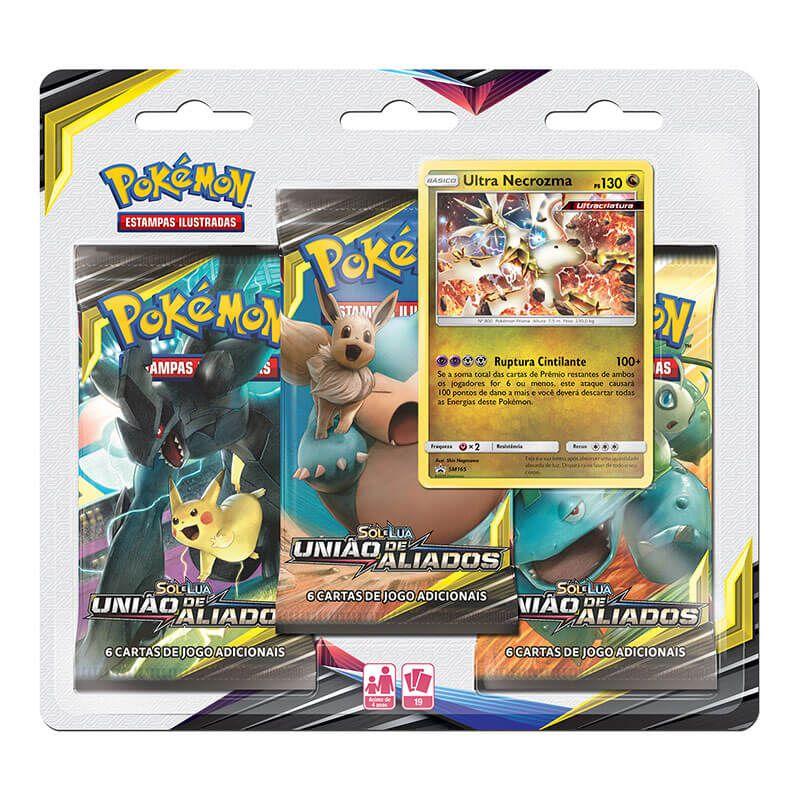 Pokémon TCG: 2 Triple Pack SM9 União de Aliados - Deoxys e Ultra Necrozma