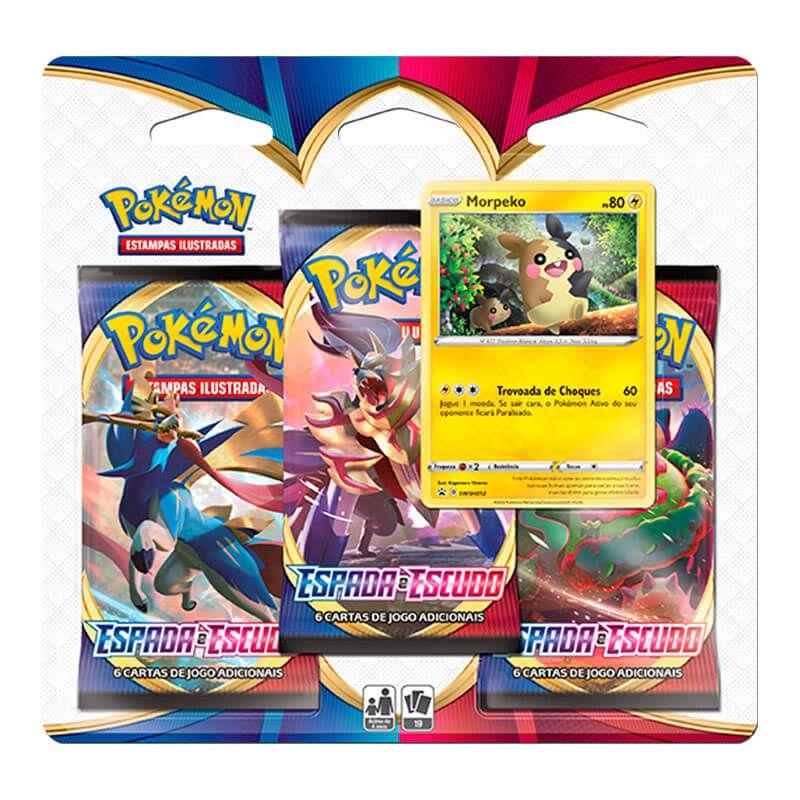 Pokémon TCG: 2 Triple Pack SWSH1 Espada e Escudo - Morpeko e Ponyta de Galar