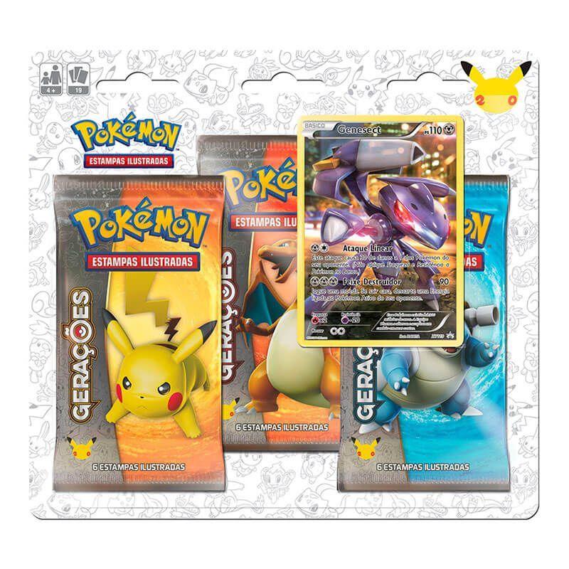 Pokémon TCG: 2 Triple Pack Gerações - Genesect + Meloetta