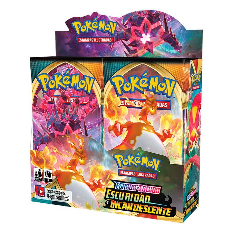 Pokémon TCG: 4x Booster Box (144 pacotes) SWSH3 Escuridão Incandescente