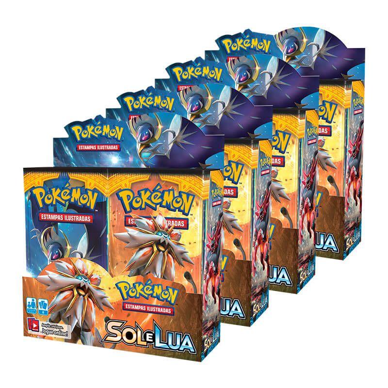 Pokémon TCG: 4x Booster Box (36 unidades) SM1 Sol e Lua
