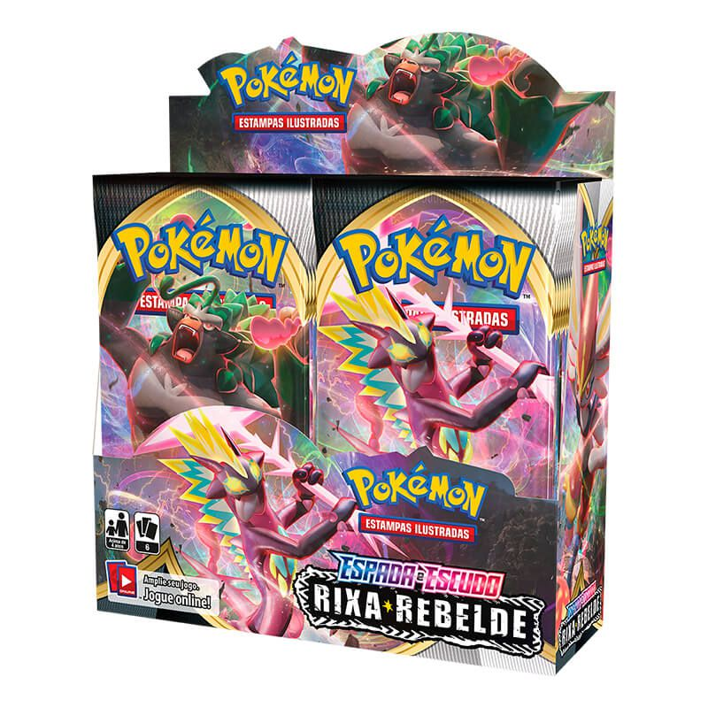Pokémon TCG: Booster Box (36 pacotes) SWSH2 Rixa Rebelde