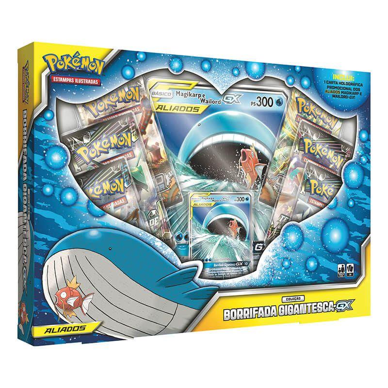Pokémon TCG: Box Aliados Coleção Borrifada Gigantesca-GX