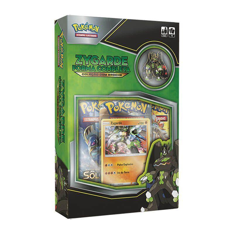Pokémon TCG: Box Coleção com Broche - Mimikyu + Zygarde Forma Completa