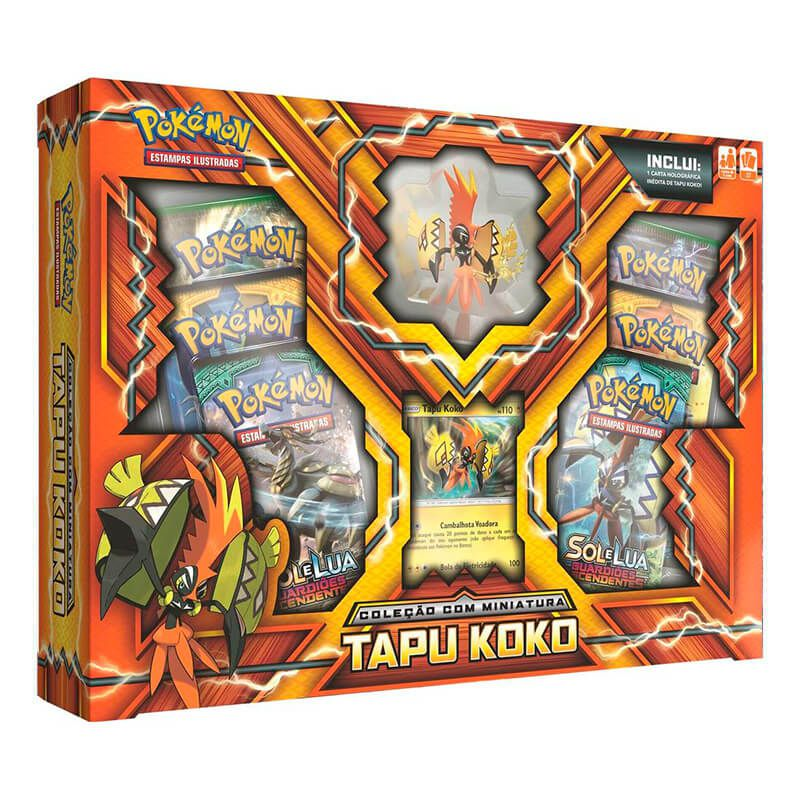 Pokémon TCG: Box Coleção com Miniatura - Marshadow + Raichu de Alola + Tapu Koko