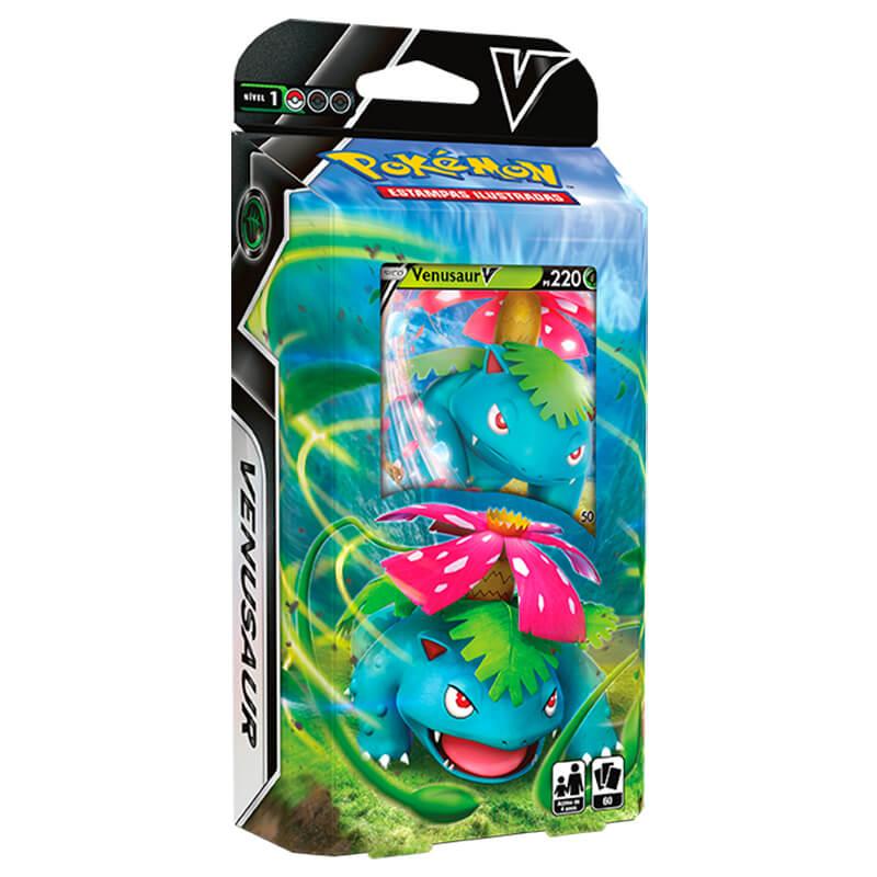 Pokémon TCG: Box Coleção de Batalha Venusaur VMAX + Baralho Batalha V